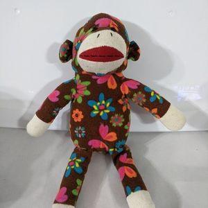 DanDee Brown and Floral Sock Monkey